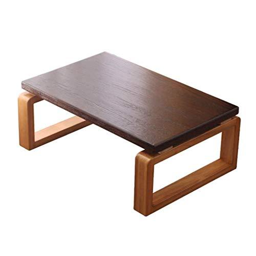 FTFTO Decoración de la Vida Mesas de café Mesa de café pequeña Cama Escritorio pequeño Tatami Balcón Plegable Mesa de té Mesa de Ventana de Madera Maciza (Tamaño: 70 * 45 * 30 cm)