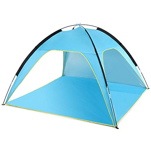 Asolym Portable Automatic Instant Sun Shelter Pop Up Beach Tent for 3-4 Person UPF 50+ UV Protection Sun Shelters for Outdoor Camping Beach Picnic, 210X210X130cm