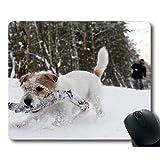 ゲームマウスマット、パグ犬の印刷、正確な縫い合わせ、耐久性のあるマウスパッド