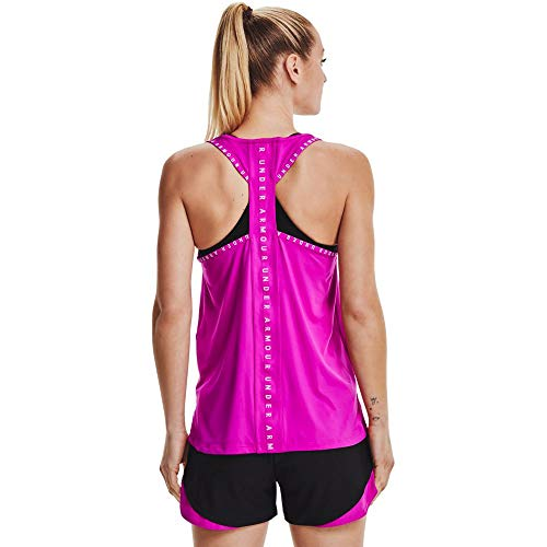 Under Armour Women's Knockout Tank Top , Meteor Pink (660)/Stellar Pink , X-Small