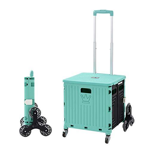 QiHaoHeji Chariot de Jardin Chariot à Huit Roues Chariot de Camping Chariot Portable Escalier Stape Portable Chariot de Pique-Nique Pique-Nique (Couleur : Vert, Size : One Szie)
