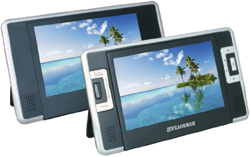 Buy Bargain Sylvania SDVD8732 7-Inch Dual Screen Portable DVD Player with Built In 3.5 Hour Lithium ...