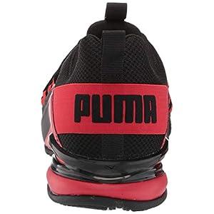 PUMA Men's Axelion Spark Cross-Trainer, Black-High Risk Red, 12 M US