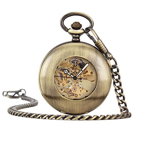 XXCHUIJU Reloj de Bolsillo Hueco de Lupa Retro, Aniversario