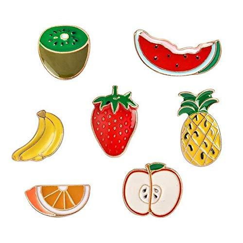 Lindo broche de fruta, serie de dibujos animados insignia de goteo de...