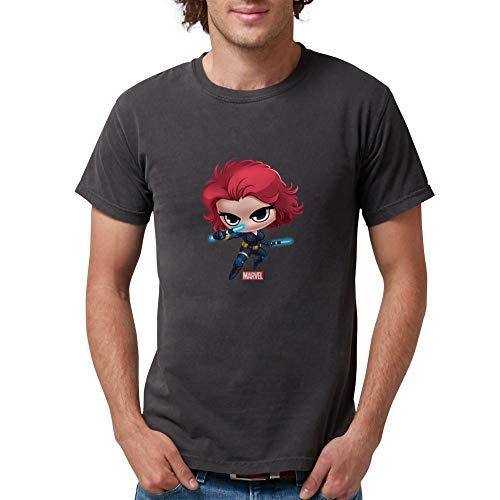 CafePress Chibi Black Widow Mens Comfort Colors Shirt