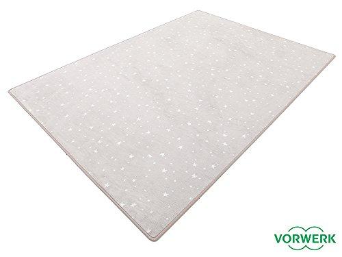 HEVO Vorwerk Bijou Stars grau Teppich | Kinderteppich | Spielteppich 200x250 cm Sonderedition