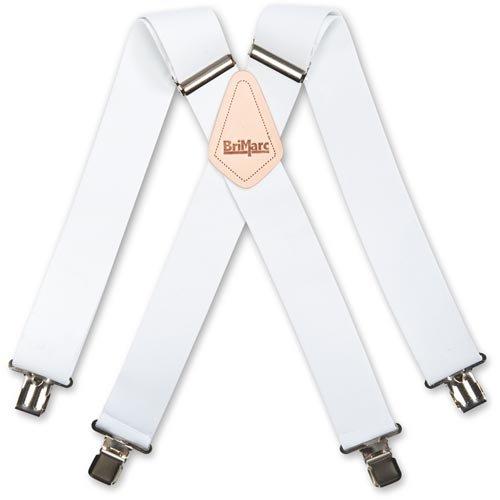 Brimarc Unique Homme Blanc uni Bretelles de travail 5,1 cm/50 mm