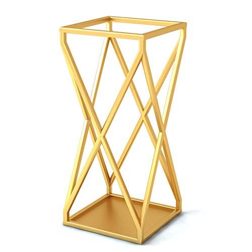 Portaombrelli Supporto in Metallo Dorato Tradizionale di Design E Canna da Pesca, Design Openwork, Dimensioni: 25 * 25 * 58 Cm