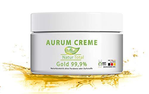 Gold Creme Anti Aging mit Kolloidalem Gold: 50ml Basiscreme nach DAC Deutschen Arzneimittel-Codex für ein strahlendes, gesundes Aussehen der Haut. Anti Aging, Anti Falten, Akne