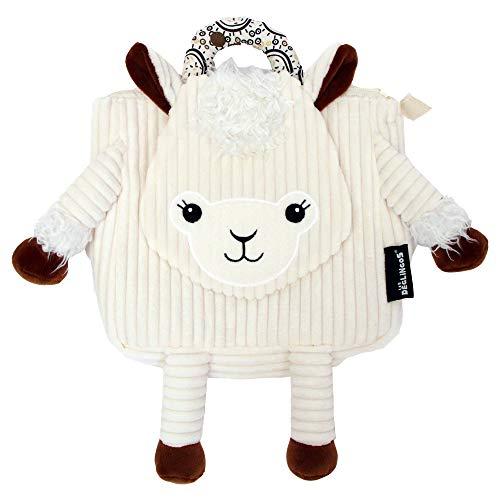 Les Déglingos -  Muchachos le lama - Sac à dos pour enfant  maternelle - Peluche - Tissu doux - Sac doudou - Cadeaux Enfants 2-7ans