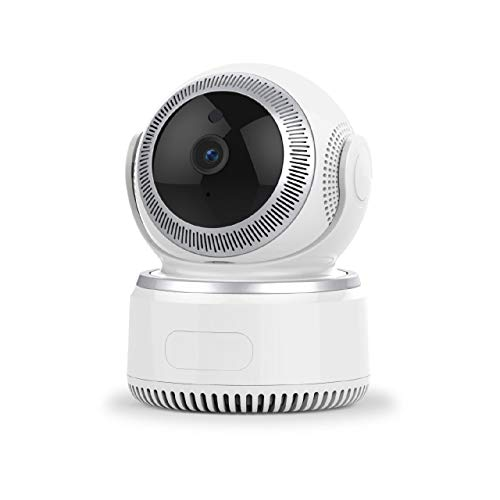XJJZS. 1080P Pan Tilt Wireless WiFi IP, videocamera di Sicurezza Domestica di sorveglianza con Audio bidirezionale, Visione Notturna for Il Bambino Anziano Animale Nanny Office Monitor