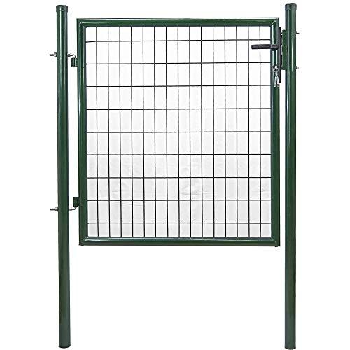 tenax Cancello da Giardino, Cancelletto Pedonale a Battente con Serratura e Chiavi, 1x1 m, Verde