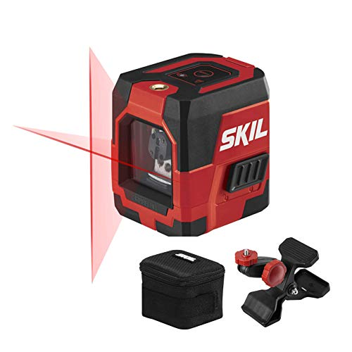 SKIL 50ft. Red Self-Leveling Cross Line Laser Level with Horizontal and Vertical Lines, Rechargeable Lithium Battery with USB Charging Port,...