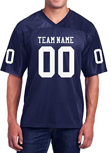 Custom Football Replica Team Jersey (Large, Navy)
