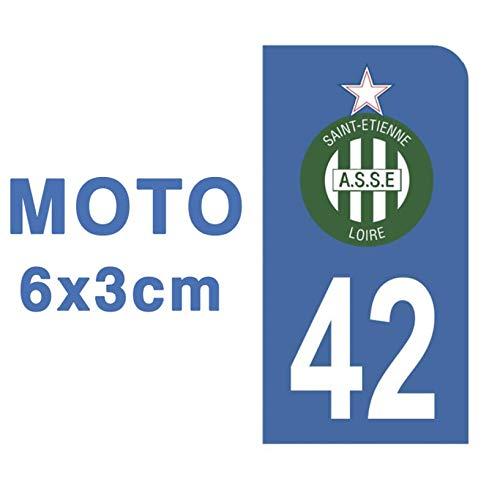 Adhesivo para placa de matrícula de moto 42 Club ASSE Association Sportive de Saint Etienne, color azul