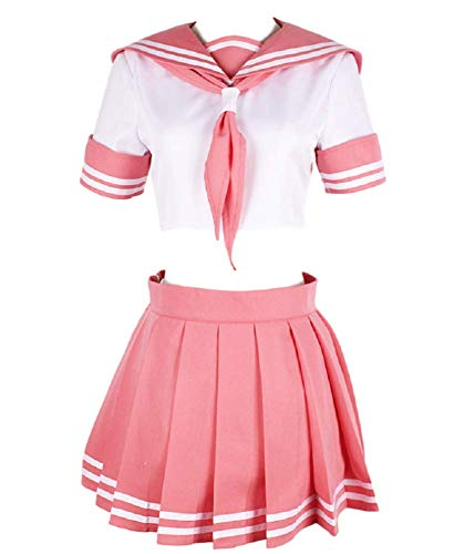 GK-O Fate Apocrypha FGO Astolfo Cosplay Costume Pink Sailor Suit JK Uniform (Asian Size X-Large)