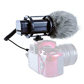 Movo VXR300 X/Y Stereo Condenser Video Microphone with -10dB Attenuation Low-Cut Filter Deadcat Windsceen & Case - Compatible with DSLR Cameras & Camcorders