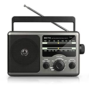 【No Power? That's Impossible】We know that you are concerned about the charging problem and we here to design two ways to power this transistor radio freeing you from worries. 110V AC power for you to plug the charging cable (included) in the wall to ...
