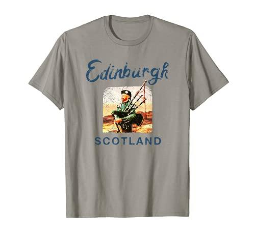 Gaitas escocesas Edimburgo SCOTLAND Vintage Graphic Camiseta