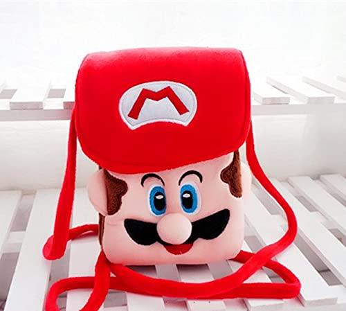 Super Mario Monedero Super Mario Mario Game Supermario Plush Cross-Back Pequea Pantalla Grande Telfono Mvil Bolsa Monedero