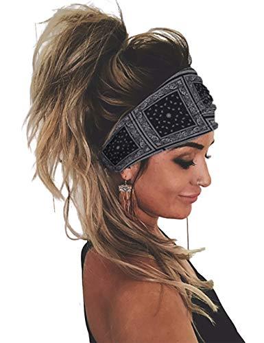 CHICME Womne Headbands Bohemian Style Yoga Running Elastic Turban Headwraps Hair Band Style 5