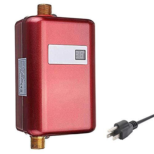 SUQIAOQIAO Calentador de Agua sin Tanque Mini LCD Digital...