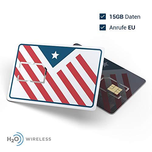 USA Prepaid SIM-Karte   15 GB Datenflatrate LTE   Telefon- und SMS-Flatrate   30 Tage für USA-Touristen