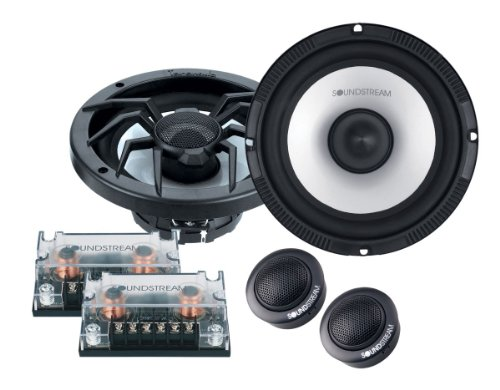"""New Pair Soundstream SC-6T Arachnid Series 6-1/2"""" 320 Watts MAX Per Set (160 Watts Each Side) Component Speaker System Set with Crossovers and Tweeters"""
