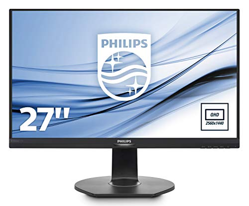 Philips 272B7QPJEB/00 68 cm (27 Zoll) Monitor (QHD, VGA, HDMI, Displayport, ohne Daisy Chain, 2x USB 3.0, 2560 x 1440, 60 Hz, 5 ms, Pivot, ohne webcam) schwarz