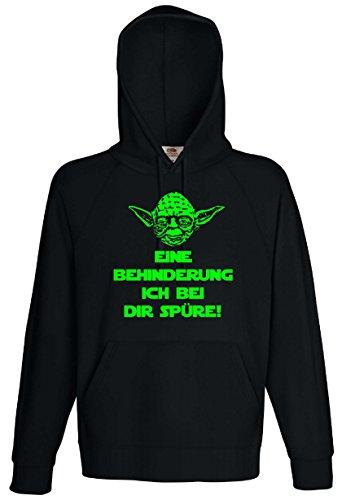 Star Wars Master Yoda Herren Kapuzensweat EINE BEHINDERUNG ICH BEI DIR SPÜRE!-S