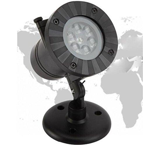 Xingyue Mythology Lampe De Projection De Flocon De Neige De NoëL ExtéRieure éTanche LED Lampe De Projection De ScèNe KTV Lampe De Projection