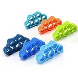 ARFUTE 6pcs / Pack Flexible Silicone élastique Main Pince Avant-Bras Poignet Finger Stretcher Resistance Band Fingers Trainer - 6 Couleurs