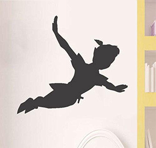 Vinilo para Pared Peter Pan vinilo sala de estar pegatina de pared Peter pan sombra pared etiqueta adhesivo de vinilo desmontable ventana mural niños niños arte