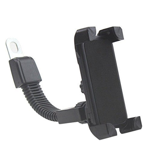 Rumfo Universal Motorcycle Phone Holder Stand Rotatable Motorcycle Rearview Mirror Phone Mount Bracket Support For iPhones, Samsung, LG, Moto, HTC, and More