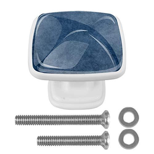 Confezione da 4 pomelli piatti per cucina, camera da letto, armadietto, maniglia quadrata per cassettiera, cassetto hardware scuro