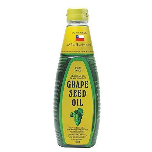 【グレープシードオイル】無農薬のぶどうを使用のグレープシードオイル460g(ペットボトル)×3本