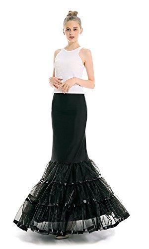 Womens One Hoop Floor Length Trumpet Mermaid Wedding Dress Petticoat