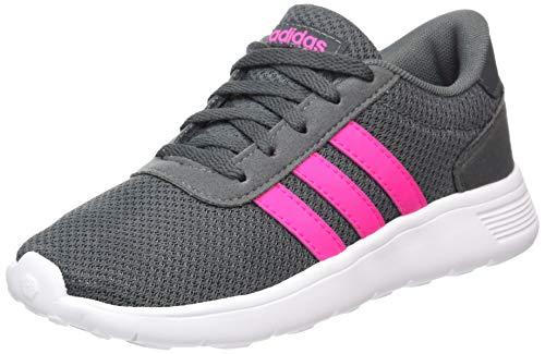 ADIDAS Bambini Tempo Libero-SPORT-CORSA-Scarpe Sneaker LITE RACER CLN K GRIGIO BLU