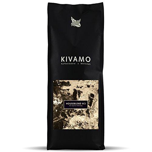 KIVAMO Espressomischung House Blend N*2, Mix aus Arabica und Robusta Bohnen, kräftiger Espresso, 2 x 1kg Frischepack