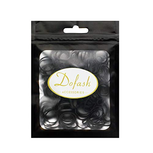 Dofash New Function achievement Reusable Multiple times stronger durable no hair damage Elastic braiding hair rubber bands TPU hair styling and sturdy for girls,kids (2x50mm black 120pcs)