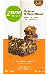 ZonePerfect Protein Bars, Salted Caramel Brownie, 10g of Protein, Nutrition Bars With Vitamins & Minerals, Great Taste Gua...