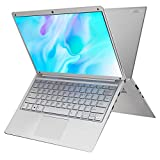 PC Ordinateur Portable Windows 10 14.1 Pulgadas , Intel HD Graphics Notebook, 4GB+64GB/2 TB Espandibile Laptop , Graphiques intégrés, 1920 * 1080 Ultrabook 2.3 GHZ WiFi/HDMI/Bluetooth (Argent)