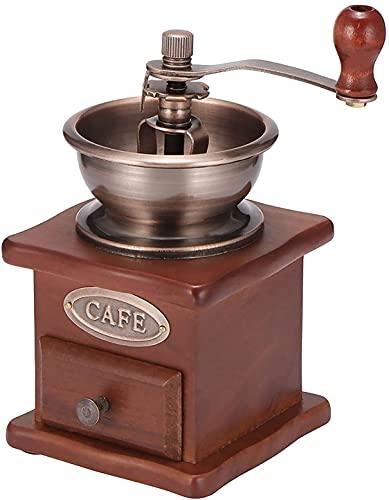 Molinillo de café manual, diseño de estilo antiguo Peahog,