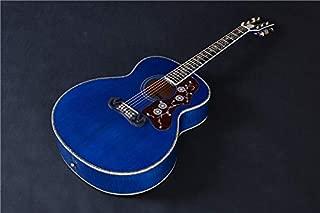 FidgetGear J 200 Jumbo Blue Flame Solid Spruce Acoustic/Electric Guitar By Artisan