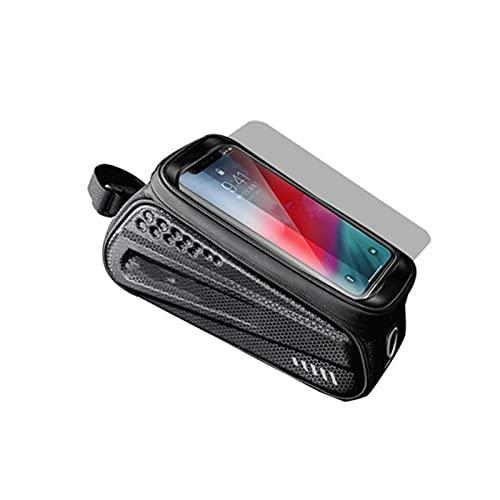 BestSiller Bolsa impermeable para bicicleta, marco frontal, bolsa de almacenamiento para bicicleta con pantalla táctil, accesorios para bicicleta