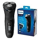 Philips New Series 3000 S3233/52 - Afeitadora eléctrica para hombre con un pivote 5D y cuchillas Powercut, color negro brillante