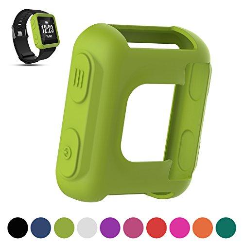 Carcasa de repuesto para pantalla de reloj de running Garmin Forerunner 35 GPS, de Ifeeker, hecha de silicona suave a prueba de golpes y suciedad, color verde lima