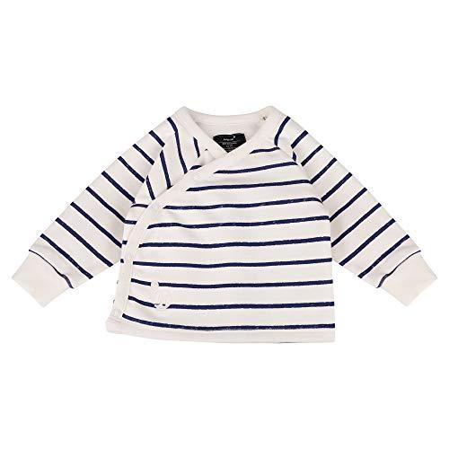 Jumpster Giacca fasciatoio, per bambini e bambine, 100% cotone biologico, prodotta nell'Unione Europea, a maniche lunghe, Eco Blu e bianco a righe. 0-3 Mesi