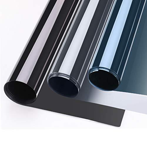 KINLO Vinilo Ventana Espejo 75X300CM Autoadhesivo Película Adhesiva Anti 97% UV Vinilo Película Protector Solar para Ventana Privacidad de Una Dirección Control Solar para Oficina Salón Dormitorio
